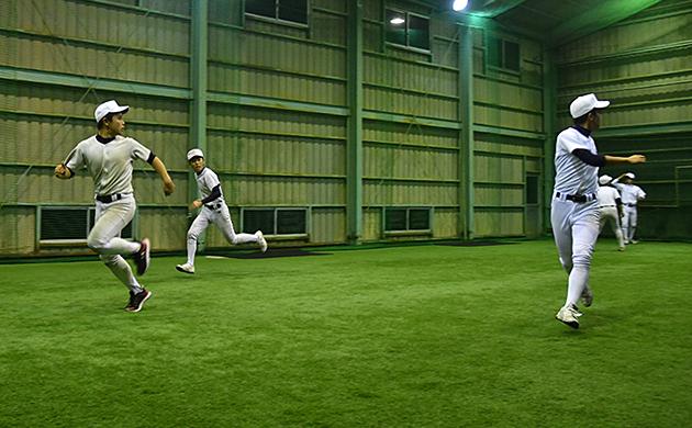 中村高校の実際のプレーを想定したランニング